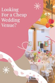 """Normally we try to avoid the word """"cheap"""". We'll say we want an inexpensive venue. Or we want to be practical, thrifty, sensible. We want to stick to our budget! All true. But what it really comes down to: if you're on a budget, you need a cheap wedding venue. The real trick is finding one that doesn't look cheap. Read about: how to find affordable wedding venues, budget wedding ideas, DIY wedding ideas, wedding venue ideas, small wedding budget, wedding food ideas on a budget. Wedding Reception On A Budget, Inexpensive Wedding Venues, Diy Wedding, Wedding Ceremony, Wedding Ideas, Budgeting, Food Ideas, Budget Organization, Wedding Ceremony Ideas"""