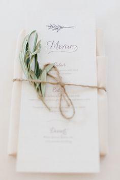 #menu  Photography: Erin McGinn - erinmcginn.com  Read More: http://www.stylemepretty.com/2014/12/29/rustic-elegance-at-willowdale-estate/