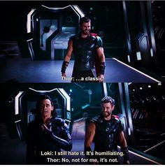 Let's do get help. -Thor No I don't want to do get help. -Loki