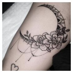 48 Magnificent Moon Tattoo Designs Ideas ❤ liked on Polyvore featuring tattoo