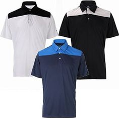 3 Pack Woodworm Golf Panel Polo Shirts - Mens XL