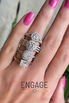 From our Proposal Ready To Ship engagement ring selection, to our customizable ring settings, the Engage website has everything you need for your personalized ring-buying journey. Start exploring at www.engagejeweler.com. #engagementring #weddingband #diamondring #bridaljewelry #weddingjewelry #proposalplanning #engagementinspo #weddingplanning #womensjewelry #rounddiamond #cushioncut #princesscut #haloengagementring #triplehalo #doublehalo #solitairediamond #diamond #marriageproposal #proposal Marriage Proposals, Personalized Rings, Princess Cut, Fashion Rings, Round Diamonds, Diamond Engagement Rings, Wedding Jewelry, Wedding Bands, Wedding Planning