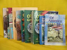 Abeka 6th Grade New World History, Reading, Science, Health, Homeschool / School #TextbookBundleKit