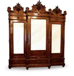 Aparador Tres Lunas with Prince of Wales Feather Motif on Carved Crest from the D. Guevarra Collection, c. Victorian Furniture, Antique Furniture, Filipino, Furnitures, China Cabinet, Wales, 19th Century, Cabinets, Feather