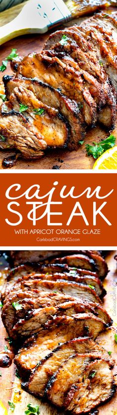 Grilled Cajun Steak with Sweet Orange Apricot Glaze – this Cajun marinade and…