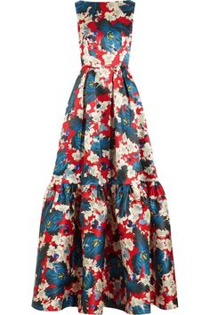 Pin for Later: The Duchess of Cambridge's Floral Gown Will Shock You in the Best Possible Way Kate's Erdem Alouette Printed Silk-Gazar Gown Floral Evening Gown, Floral Gown, Evening Dresses, Floral Dresses, Beautiful Dresses, Nice Dresses, Fitted Dresses, Long Dresses, Dress Long