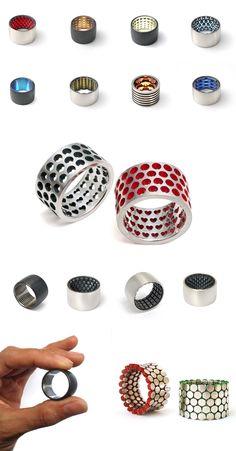 Cool rings from an Australian artist.