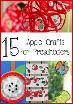 apple crafts for preschoolers | from @mbream