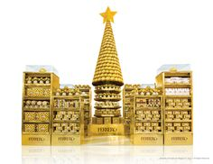 Ferrero Rocher - Golden Christmas | Display Pallet | point of purchase at thesellingpoints.com