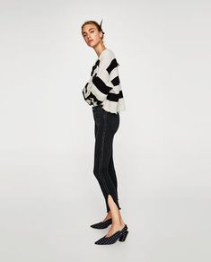 MID RISE JEANS WITH SIDE STRIPE-View all-JEANS-WOMAN | ZARA United Kingdom