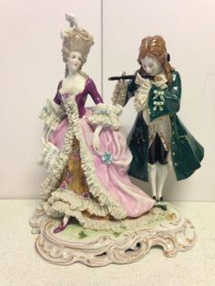 Antique Porcelain Figurine Volkstedt Dresden Germany Early 1800's picclick.com