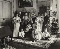 Nicholas, Alexandra, & baby Olga visiting their relatives in Denmark, 1896