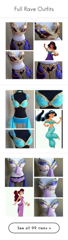 """Full Rave Outfits"" by real-ruby-horan ❤ liked on Polyvore featuring costumes, dresses, rave, outfits, sexy princess costumes, ariel costume, tomorrowland, carnival costumes, sexy costumes and party costumes"