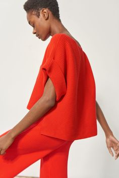 Mara Hoffman Margaret Sweater - Red Sweater great for the holidays. Holiday sweater weather