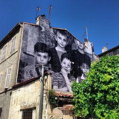 France. La Friche belle de mai, Marseille, Ecole St Charles, 1966-67 // JR