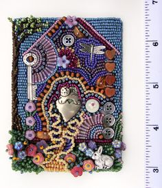 Home by Robin Atkins for the Bead Journal Project