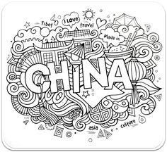 раскраски для взрослых, раскраски антистресс, країни, путешествие, антистресс раскрастраныраны, Китай