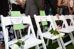 How lost loved ones were remembered..wonderful wedding idea. <3 my grandpa