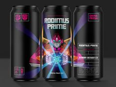 Rodimus Prime IPA  - Concept Art Packaging Design Inspiration, Ipa, Red Bull, Concept Art, Canning, Instagram, Search, Conceptual Art, Searching