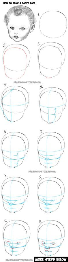Learn How to Draw a Baby's Face : Drawing Infant Faces with Step by Step Drawing Tutorial