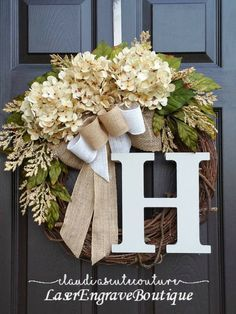 Fall Wreath   Cream Hydrangea Wreath   Summer Wreath   Spring Wreath   Year Round Wreath   Front Door Wreath   Grapevine Wreath   Mother's Day Gift   Wreath for Door   Fall Wreath  #affiliate