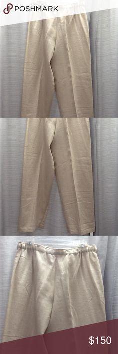 Shirin Guild linen relaxed pants Sz L Shirin Guild linen relaxed pants Sz L elastic waist. Waist 16, length 42, Inseam 31 Shirin Guild Pants Wide Leg