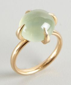 Pomellato : gold and green quartz 'Moon' ring