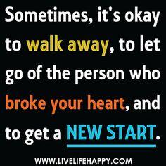 It's Okay To Walk Away