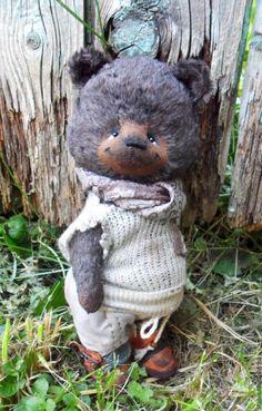 Купить мишка тедди Тёмка - мишка ручной работы, мишка тедди, подарок девушке