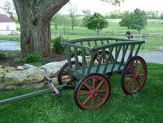 Amish Wooden Goat Wa