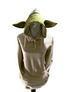 Yoda Inspired Adult Hooded Sweatshirt. $43.99, via Etsy.