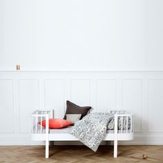 White Scandavian Bunk Bed by Oliver Furniture | Nubie - Modern Baby Boutique