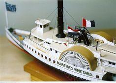Steamboat MARTHA'S VINEYARD c.1895, Detail