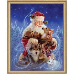 Heaven and Earth Designs Santa's Little Friends Counted Cross-Stitch Chart