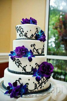 Elegant Cobalt Blue Kauai Island Wedding | Purple and Blue Wedding ...