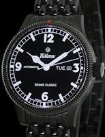 """Tutima Black Flieger- This is my """"everyday"""" timepiece as I love the simple rotating bezel and it is easy to read without my glasses. Day & date, screw down crown, hardened stainless steel (similar to what Sinn does) with a PVD coating. It does not attract a lot of attention from others but the attention to detail on this timepiece is just exceptional."""