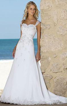 White flowy discount sexy beach wedding dresses plus size for Plus size flowy wedding dresses
