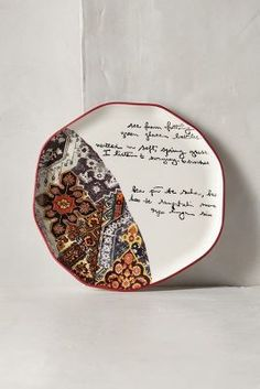 Anthropologie Lyrical Dessert Plate #anthroregistry