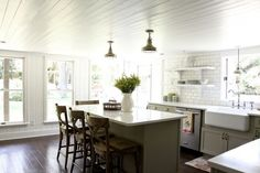 Before and after kitchen renovation by Lauren Leonard Interiors