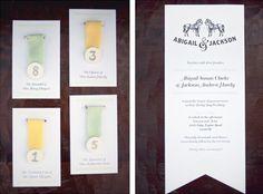 Races Inspired Wedding Invitation