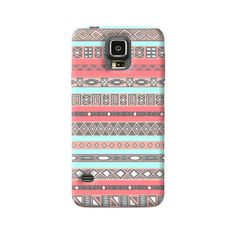 Baby Blue Aztec Samsung Galaxy S5 Case from Cyankart
