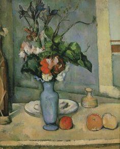 "Paul #Cézanne ""The Blue Vase"" / $144 - $404 incl.20% VAT and Shipping / Click http://mondialart.co.uk/product/the-blue-vase/ #art #painting #mondialart #replica"