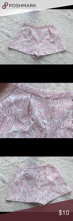 """Victoria Beckham for Target Pink Floral Shorts L Victoria Beckham for Target Pink Floral Shorts L.  Gently Used.  Approximate Measurements Waist 28"""" Inseam 11 1/2"""" Hips: 36"""". Item 10 Victoria Beckham Shorts"""