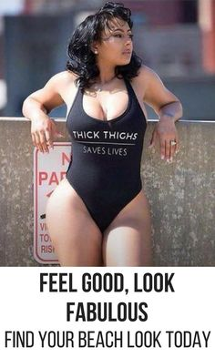 Feel good, look gorgeous in Bodysuit Vixen's Thick Thighs Save Lives bodysuit! We have the perfect beachwear for you, come check us out and check you out too.