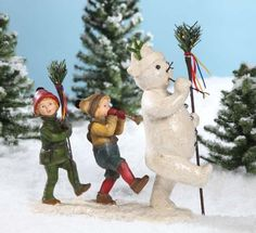 Christmas Decor - Bethany Lowe Designs - Snowman with Children in Parade *** Read more at the image link.