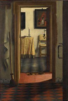 Samuel van Hoogstraten, The Slippers, aka View of an Interior.