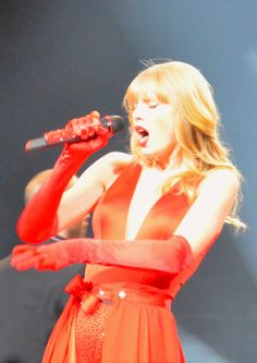Taylor Swift during The Lucky One on the Red Tour