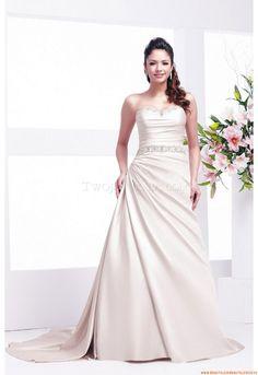 Bodenlang Herz-neck Schlichte Günstige Brautkleider 2014