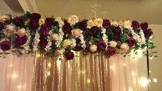 Affordable Diy Wedding Décor Ideas On A Budget 03 Diy Wedding Backdrop, Diy Backdrop, Backdrop Decorations, Flower Backdrop, Diy Wedding Decorations, Decor Wedding, Wedding Stage, Our Wedding, Armband Tutorial