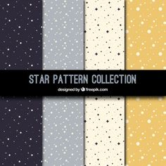 Flat patterns collection with stars , Art Deco Design, Paper Design, Colour Pallete, Cellphone Wallpaper, Star Patterns, Pattern Paper, Digital Scrapbooking, Vector Free, Clip Art